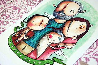 Kresby - On a jeho rodina - 10276922_