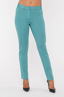 Nohavice - Dámske strečové nohavice modré - 10274132_