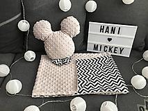 Textil - Mickey vankúš minky - 10276929_