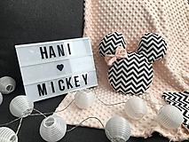 Textil - Vankúš Mickey minky - 10277014_