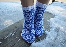 Obuv - ponožky s nórskym vzorom 2019 ( v.37 - 38 ) - 10274808_
