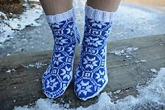 Obuv - ponožky s nórskym vzorom 2019 ( v.37 - 38 ) - 10274809_