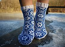 Obuv - ponožky s nórskym vzorom 2019 ( v.37 - 38 ) - 10274810_