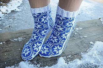 Obuv - ponožky s nórskym vzorom 2019 ( v.37 - 38 ) - 10274807_