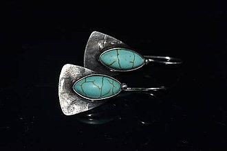 Náušnice - tyrkenitové křídla - 10275473_