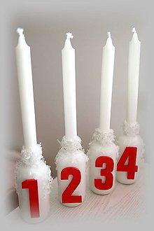 Svietidlá a sviečky - adventné svietniky - 10275340_
