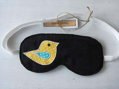 Maska na spanie s vtáčikom.   susugo - SAShE.sk - Handmade Iné doplnky bbfcd00d7ab