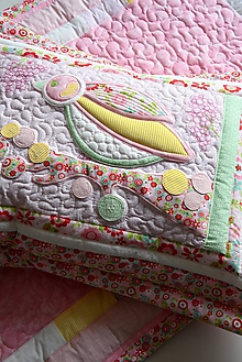 Úžitkový textil - Vankúš - sýkorka - rúžová - 10275474_