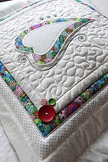 Úžitkový textil - Vankúš - vianočné srdce - 10275572_