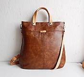 "Kabelky - LAURA ""Brown"" kožená kabelka - 10274599_"