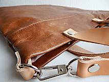 "Kabelky - LAURA ""Brown"" kožená kabelka - 10274608_"