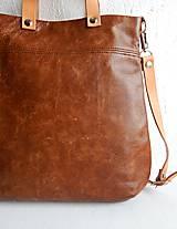 "Kabelky - LAURA ""Brown"" kožená kabelka - 10274609_"