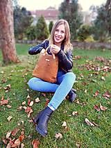"Kabelky - LAURA ""Brown"" kožená kabelka - 10274634_"