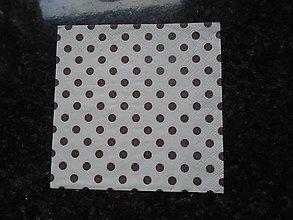Papier - hnedé bodky - 10275329_