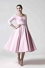 Šaty Midi ružové