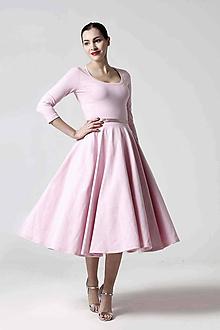 Šaty - Šaty Midi ružové - 10279032_