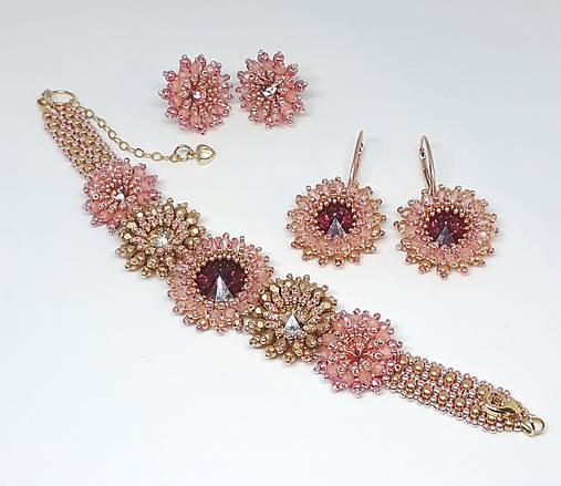 703d73f1f JOIA Sada šperkov 'Letná Romanca' v ružovo - zlatom prevedení so Swarovski®  kryštálmi