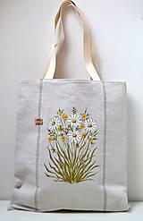 Ľanová taška ručne maľovaná