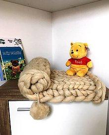 Textil - Chunky merino baby deka. - 10278504_