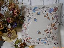 """Úžitkový textil - """"Benátska ruža""""- maľovaný vankúš na režnej bavlne, na výber 3 druhy vzorov - 10279667_"""