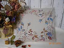 """Úžitkový textil - """"Benátska ruža""""- maľovaný vankúš na režnej bavlne, na výber 3 druhy vzorov - 10279675_"""
