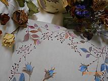 """Úžitkový textil - """"Benátska ruža""""- maľovaný vankúš na režnej bavlne, na výber 3 druhy vzorov - 10279684_"""
