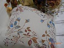 """Úžitkový textil - """"Benátska ruža""""- maľovaný vankúš na režnej bavlne, na výber 3 druhy vzorov - 10279689_"""