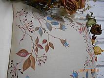 """Úžitkový textil - """"Benátska ruža""""- maľovaný vankúš na režnej bavlne, na výber 3 druhy vzorov - 10279691_"""