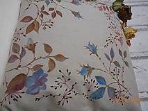 """Úžitkový textil - """"Benátska ruža""""- maľovaný vankúš na režnej bavlne, na výber 3 druhy vzorov - 10279699_"""