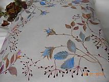 """Úžitkový textil - """"Benátska ruža""""- maľovaný vankúš na režnej bavlne, na výber 3 druhy vzorov - 10279796_"""