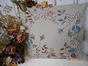 """Úžitkový textil - """"Benátska ruža""""- maľovaný vankúš na režnej bavlne, na výber 3 druhy vzorov - 10279663_"""