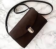 Kabelky - Minimalistická koženo-drevená kabelka - 10277433_