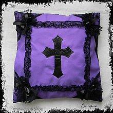 Úžitkový textil - Gotická návliečka - fialová - 10279465_