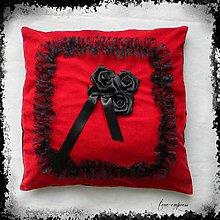 Úžitkový textil - Gotická návliečka - červená - 10279525_