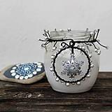 Svietidlá a sviečky - Lucernička s vločkou - 10279189_