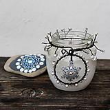 Svietidlá a sviečky - Lucernička s vločkou - 10279191_