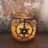 Svietidlá a sviečky - Lucernička s vločkou - 10279195_
