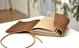 Papiernictvo - kožený zápisník ANATOLIJ - 10277518_