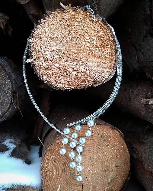 317850768 Asymetrický perlový náhrdelník (Strieborný) / Lostangela - SAShE.sk ...