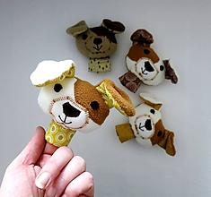 Hračky - Prstová maňuška psík - na výber - 10278011_