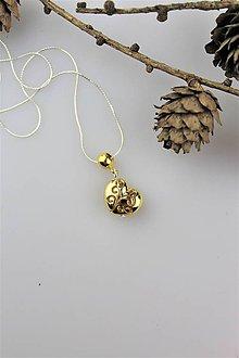 Náhrdelníky - valentínske srdiečko prívesok - s retiazkou zo striebra - 10279887_
