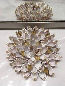 Dekorácie - Kvet zo snežnej záhrady - 10279985_