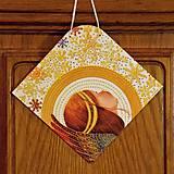 Tabuľky - Vianočná tabuľka Anjelská svätožiara - 10279926_
