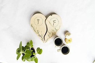 Pomôcky - Mladomanželské podšálky na kávičku - 10278853_