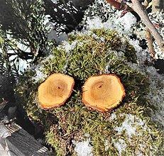 Náušnice - Drevené visiace náušničky - San Stefano, Sardínia - 10280012_