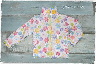 Detské oblečenie - Wellsoft mikinka kvetinky - 10279898_