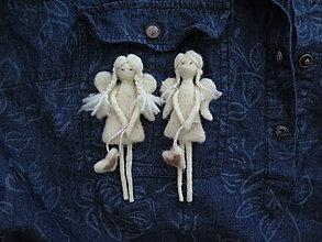 Odznaky/Brošne - Brošňa anjelik - 10277549_
