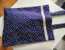 Nákupné tašky - Taška - modrotlač - 10278098_