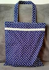 Nákupné tašky - Taška - modrotlač - 10278100_