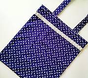Nákupné tašky - Taška - modrotlač - 10278101_